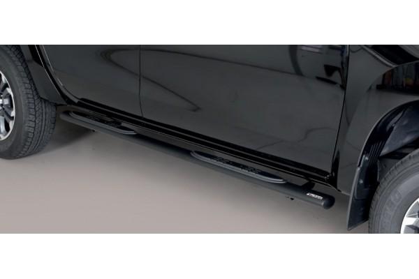 Misutonida Műanyagbetétes oválküszöb fekete GPO-480-PL